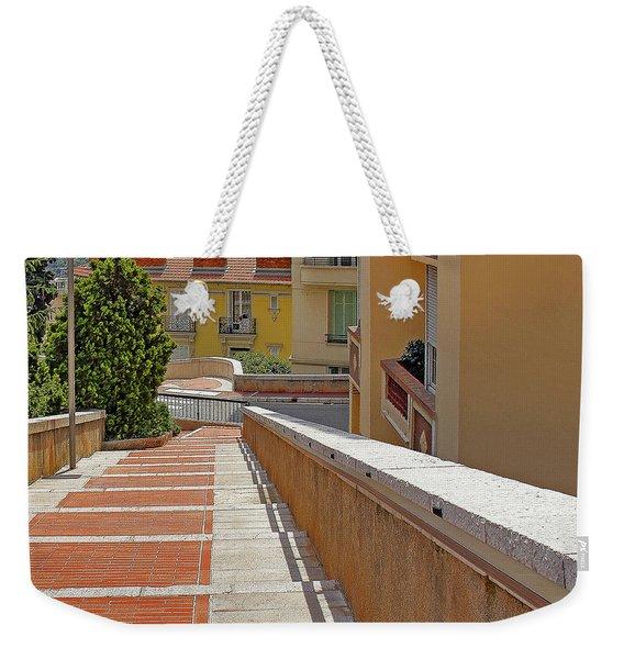 Stairway In Monaco French Riviera Weekender Tote Bag