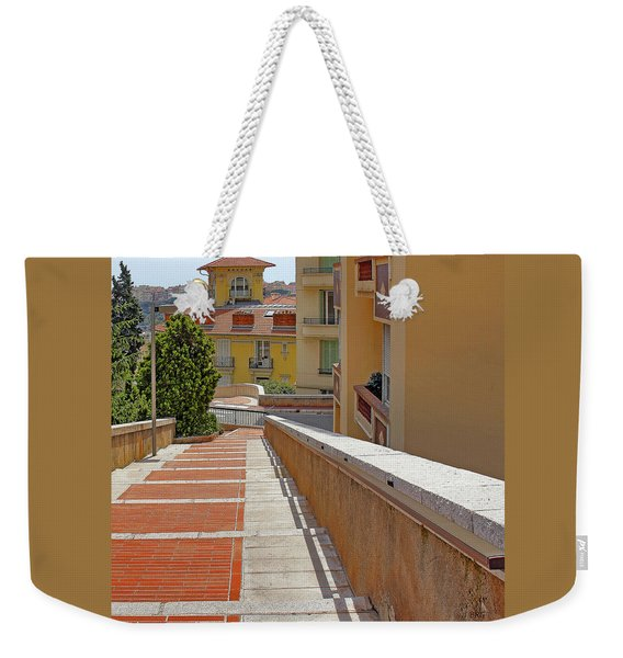 Stairway In Monaco French Riviera Weekender Tote Bag
