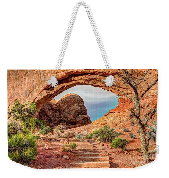 Stairway To Heaven - North Window Arch Weekender Tote Bag