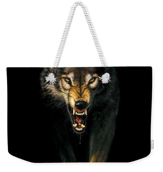 Stalking Wolf Weekender Tote Bag
