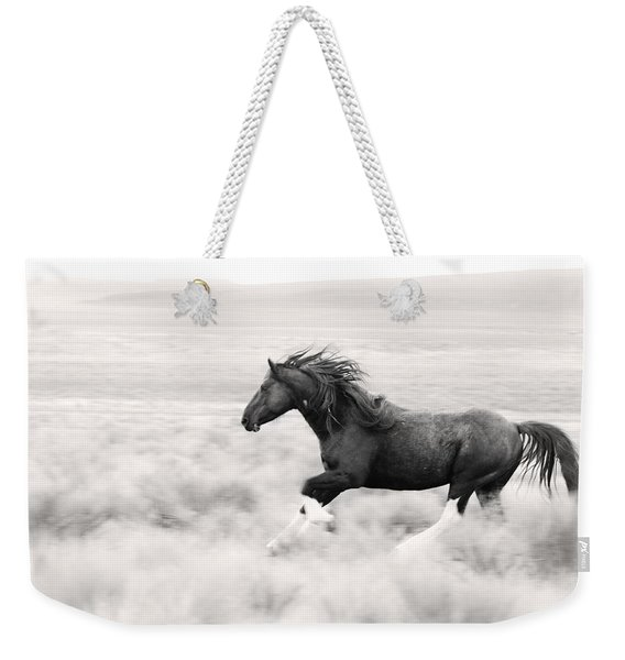 Stallion Blur Weekender Tote Bag
