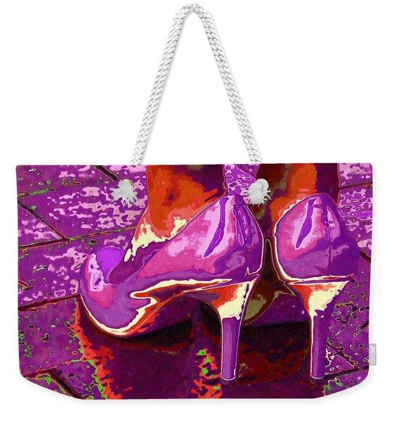 Standing In The Purple Rain Weekender Tote Bag