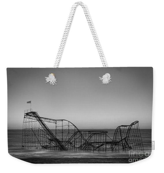 Star Jet Roller Coaster Bw Weekender Tote Bag