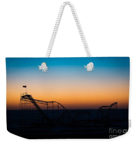 Star Jet Roller Coaster Silhouette  Weekender Tote Bag