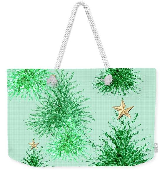Star Trees Weekender Tote Bag
