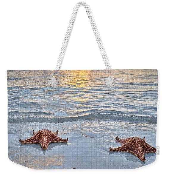 Starfish Beach Sunset Weekender Tote Bag