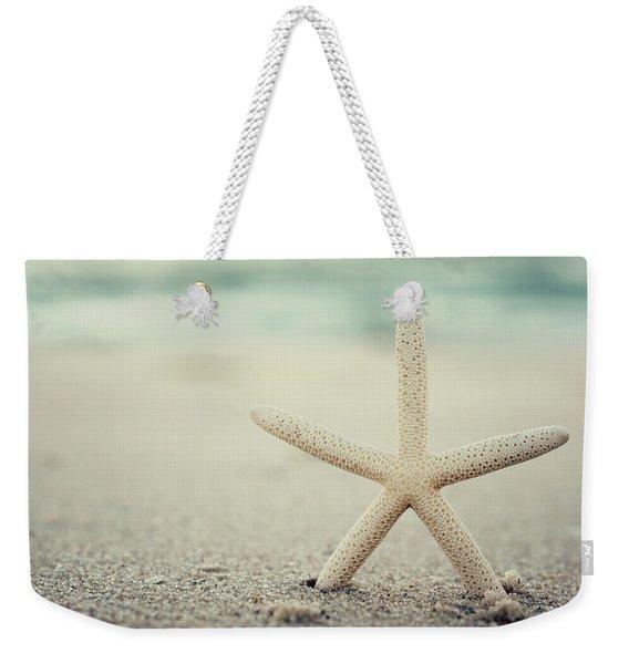 Starfish On Beach Vintage Seaside New Jersey  Weekender Tote Bag