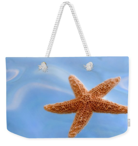 Starfish On Blue Water Weekender Tote Bag