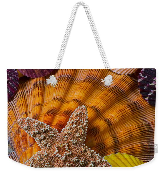 Starfish With Seashells Weekender Tote Bag