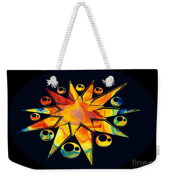 Staring Into Eternity Abstract Stars And Circles Weekender Tote Bag