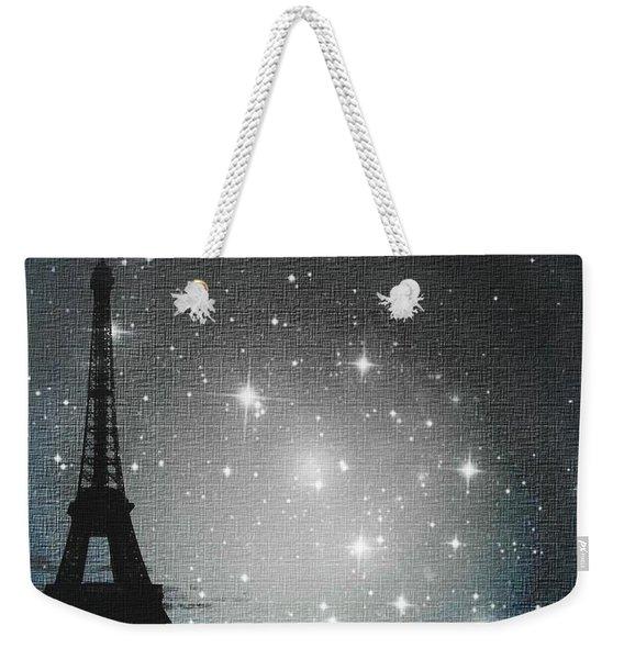 Starry Night In Paris - Eiffel Tower Photography  Weekender Tote Bag