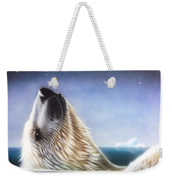 Weekender Tote Bag featuring the painting Starshine by Sandi Baker