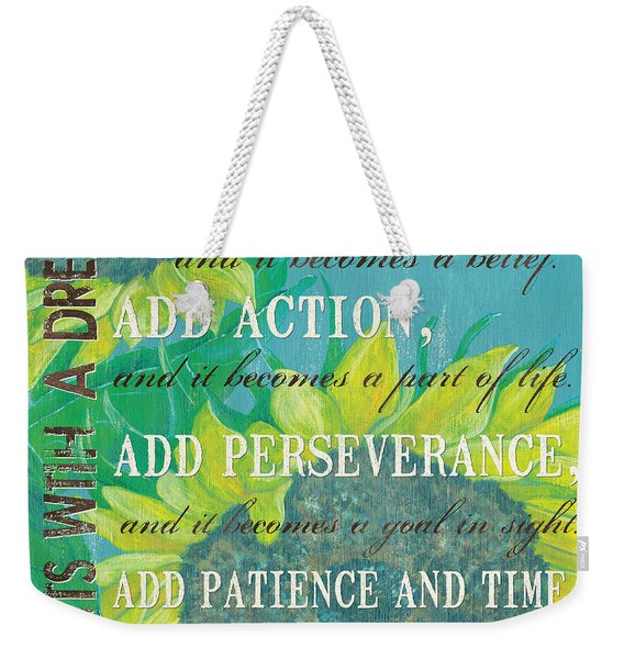 Starts With A Dream Weekender Tote Bag