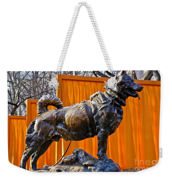 Statue Of Balto In Nyc Central Park Weekender Tote Bag