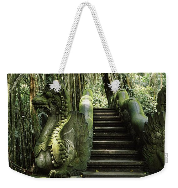 Statue Of Dragons In A Temple, Bathing Weekender Tote Bag