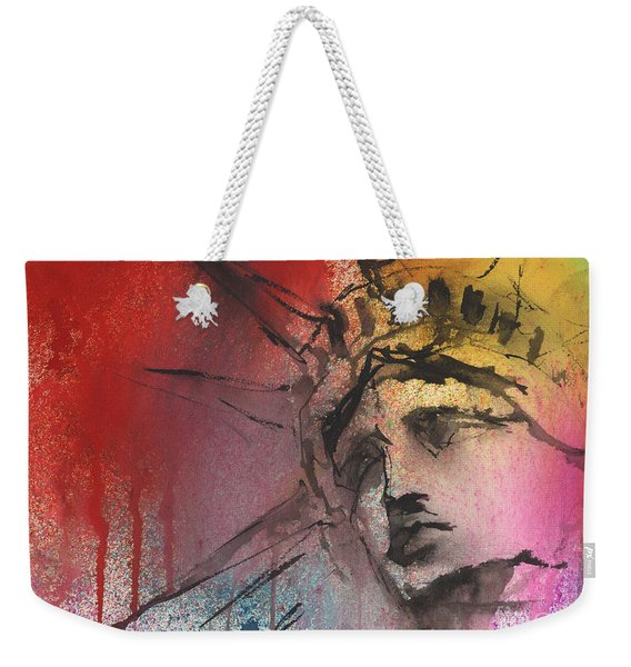 Statue Of Liberty New York Painting Weekender Tote Bag