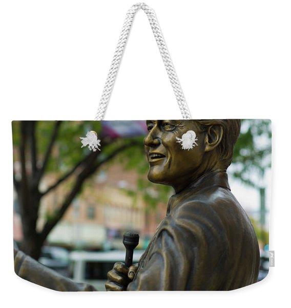 Statue Of Us President Bill Clinton Weekender Tote Bag