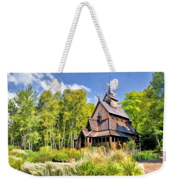 Stavkirke Church On Washington Island Door County  Weekender Tote Bag