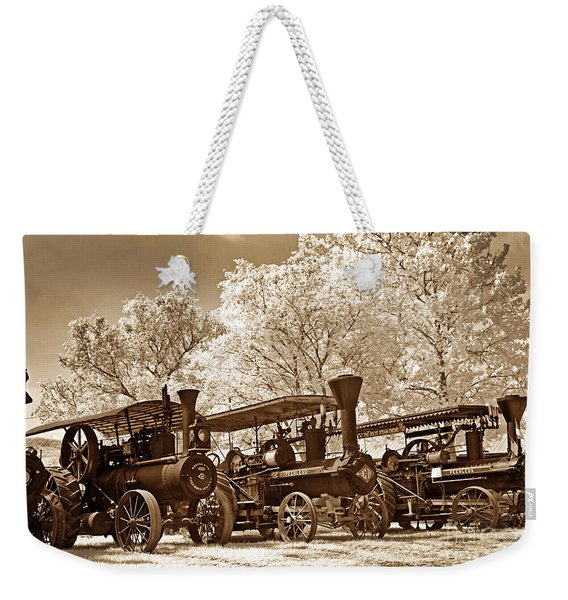 Steam Powered Farming Weekender Tote Bag