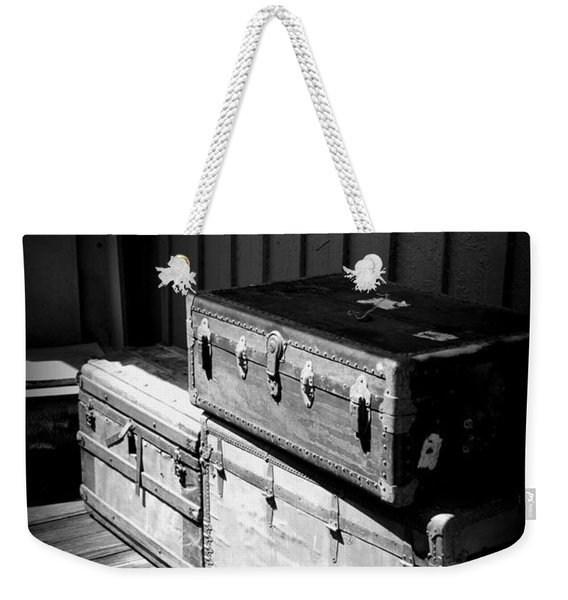 Steamer Trunks Weekender Tote Bag