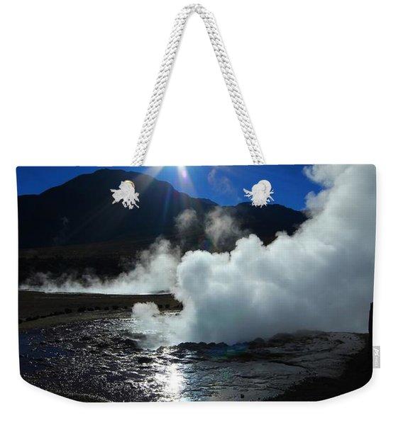 Steaming Desert Weekender Tote Bag