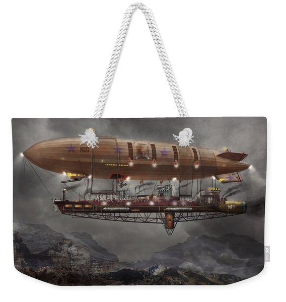 Steampunk - Blimp - Airship Maximus  Weekender Tote Bag