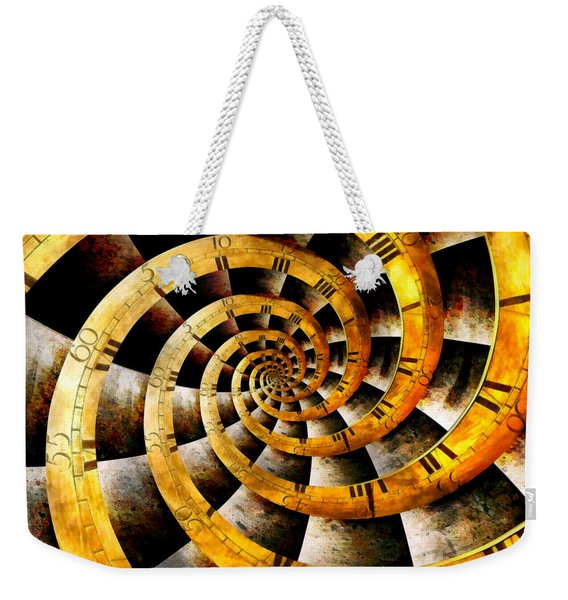 Steampunk - Clock - The Flow Of Time Weekender Tote Bag