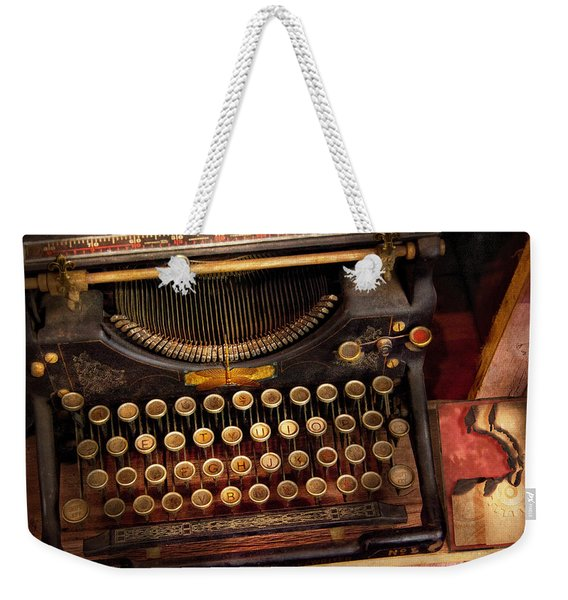Steampunk - Just An Ordinary Typewriter  Weekender Tote Bag