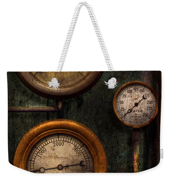 Steampunk - Plumbing - Gauging Success Weekender Tote Bag