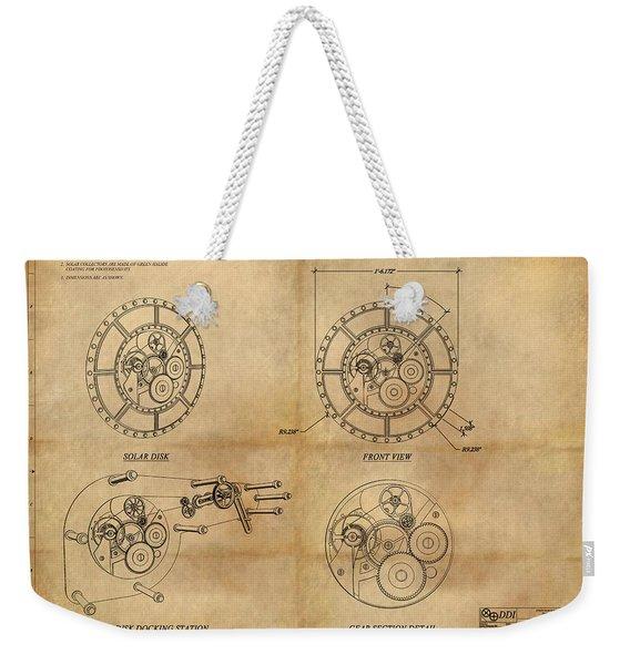 Steampunk Solar Disk Weekender Tote Bag