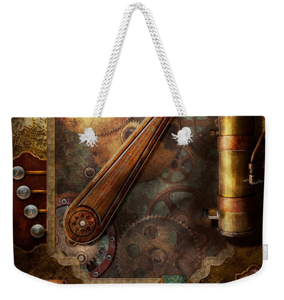 Steampunk - Victorian Fuse Box Weekender Tote Bag