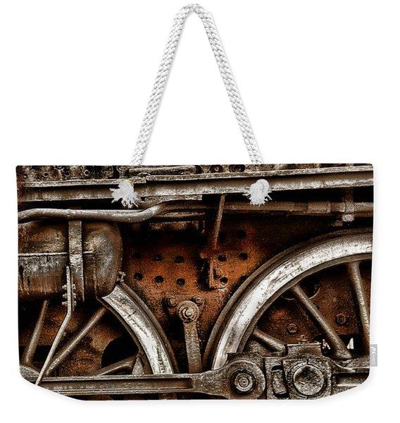 Steampunk- Wheels Locomotive Weekender Tote Bag