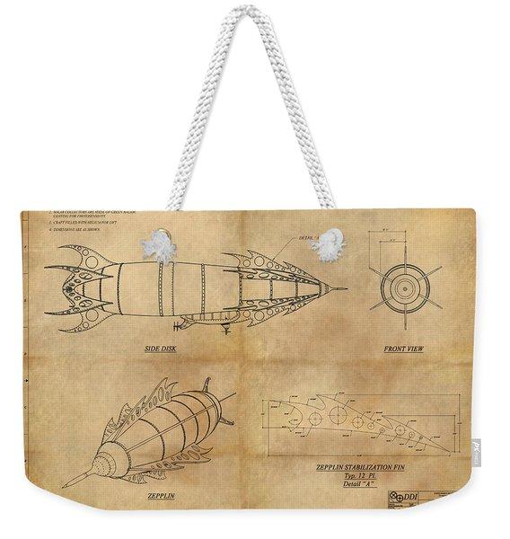 Steampunk Zepplin Weekender Tote Bag