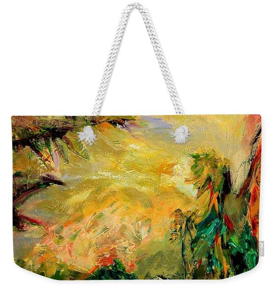 Steamy Cove Weekender Tote Bag