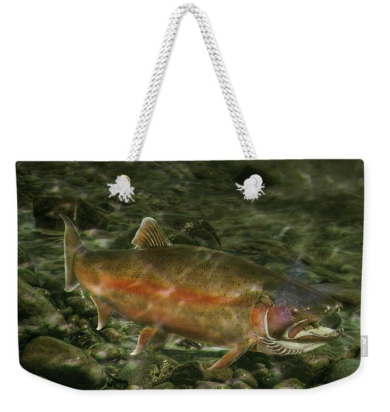 Steelhead Trout Spawning Weekender Tote Bag