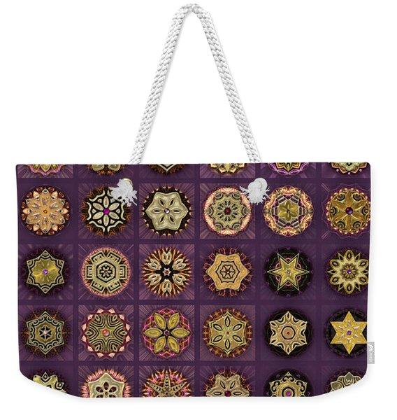 Stellars One Dingbat Quilt Weekender Tote Bag