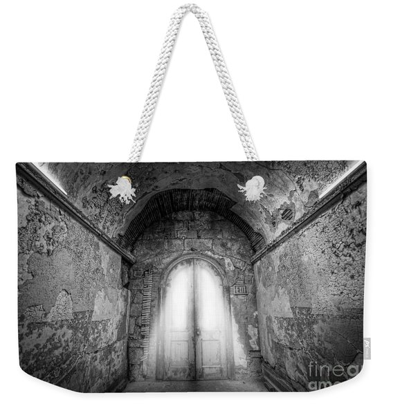 Step Into The Light Black And White Weekender Tote Bag