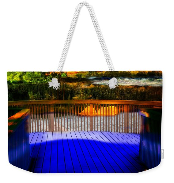 Weekender Tote Bag featuring the photograph Step Out by Gunter Nezhoda