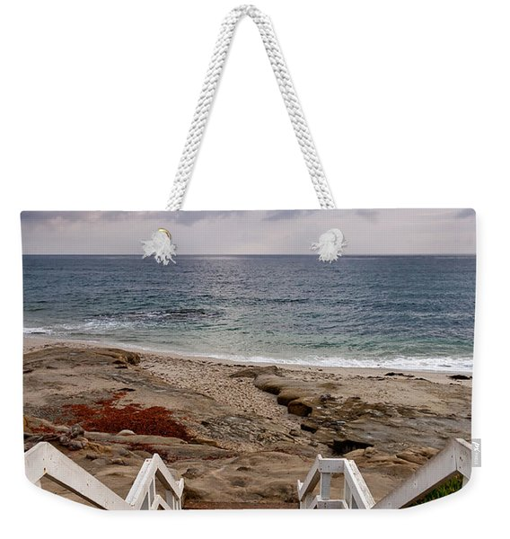 Steps And Pelicans Weekender Tote Bag