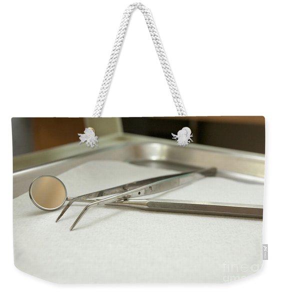 sterile Dentist tools  Weekender Tote Bag