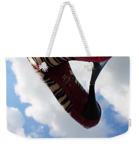 Stilettos Gone Zebra Weekender Tote Bag
