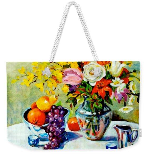 Still Life Creamer Weekender Tote Bag