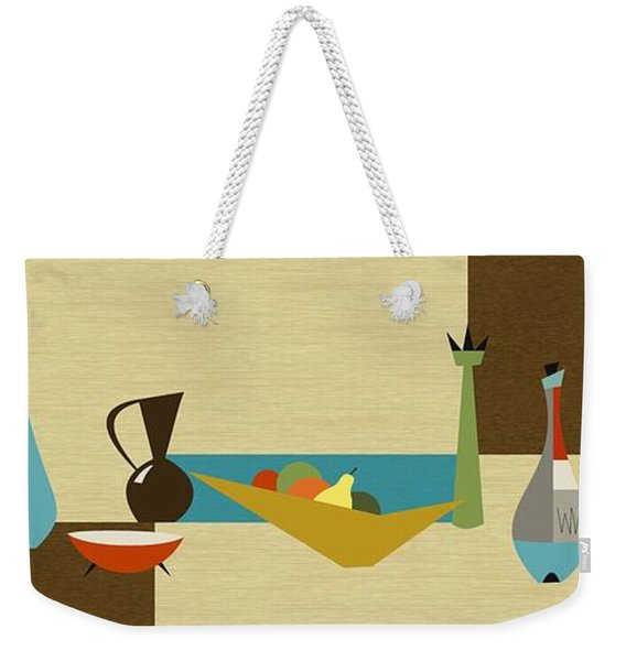 Weekender Tote Bag featuring the digital art Still Life by Donna Mibus