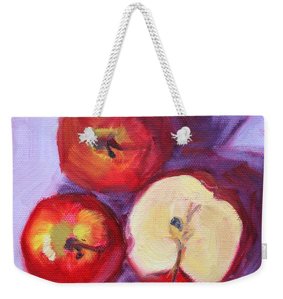 Still Life Kitchen Apple Painting Weekender Tote Bag