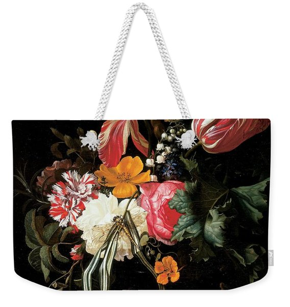 Still Life Of Flowers, 1669 Oil On Canvas Weekender Tote Bag