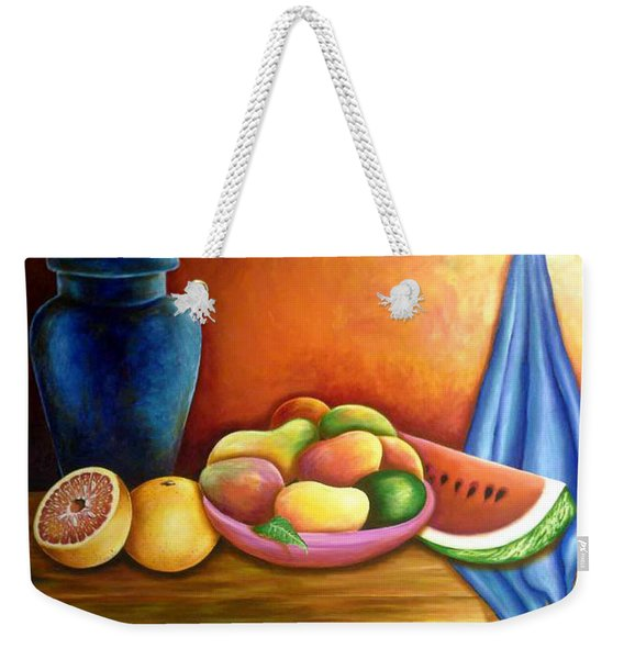 Still Life Of Fruits Weekender Tote Bag