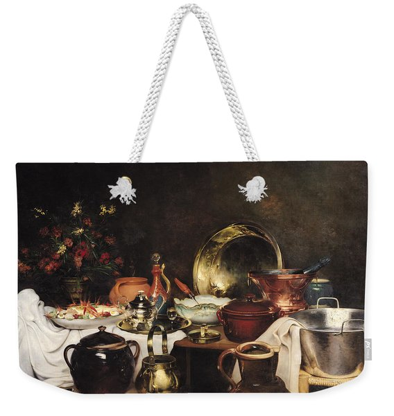 Still Life Oil On Canvas Weekender Tote Bag