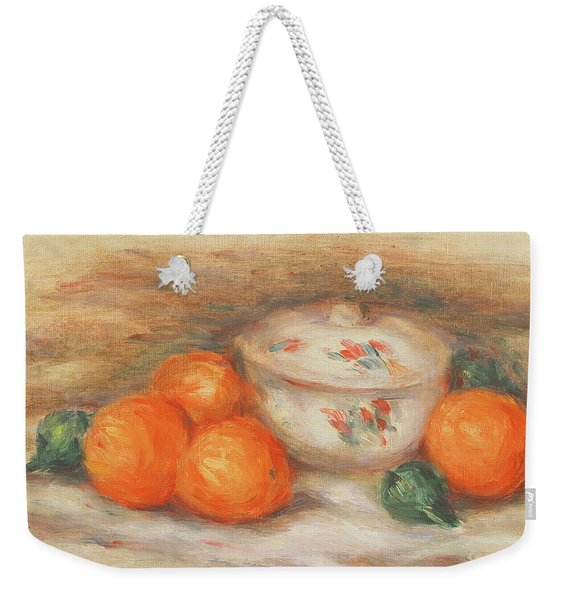 Still Life With A Covered Dish And Oranges Weekender Tote Bag