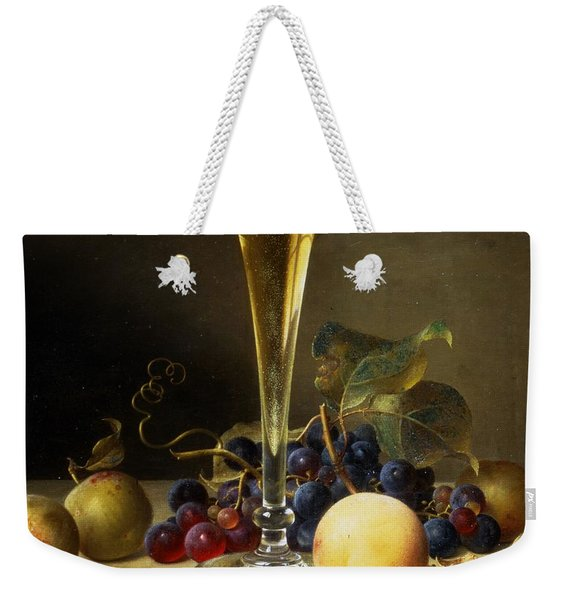 Still Life With A Glass Of Champagne Weekender Tote Bag