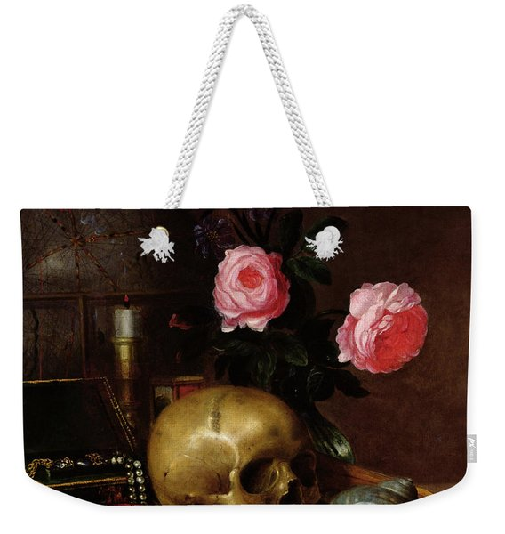 Still Life With A Skull Oil On Canvas Weekender Tote Bag